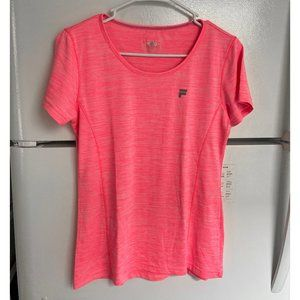 Neon pink Fila athletic shirt, L (suitable for M)